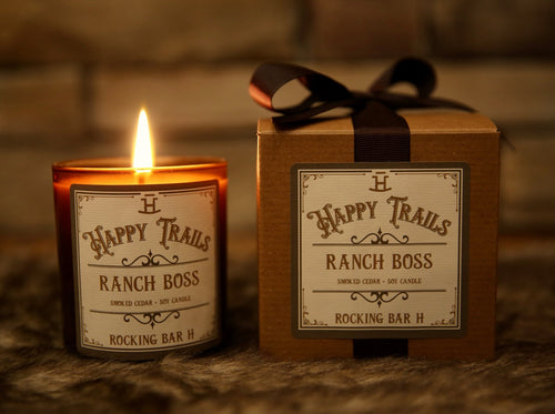 Rocking Bar H Happy Trails Candle - Ranch Boss