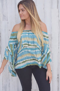 Sea Breeze Off Shoulder Top