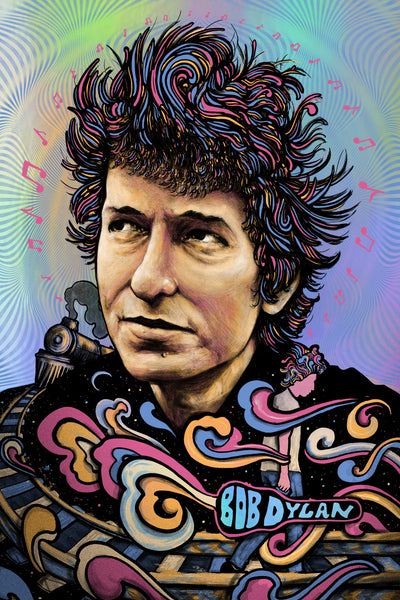 Bob Dylan (Variant on Rainbow Foil)