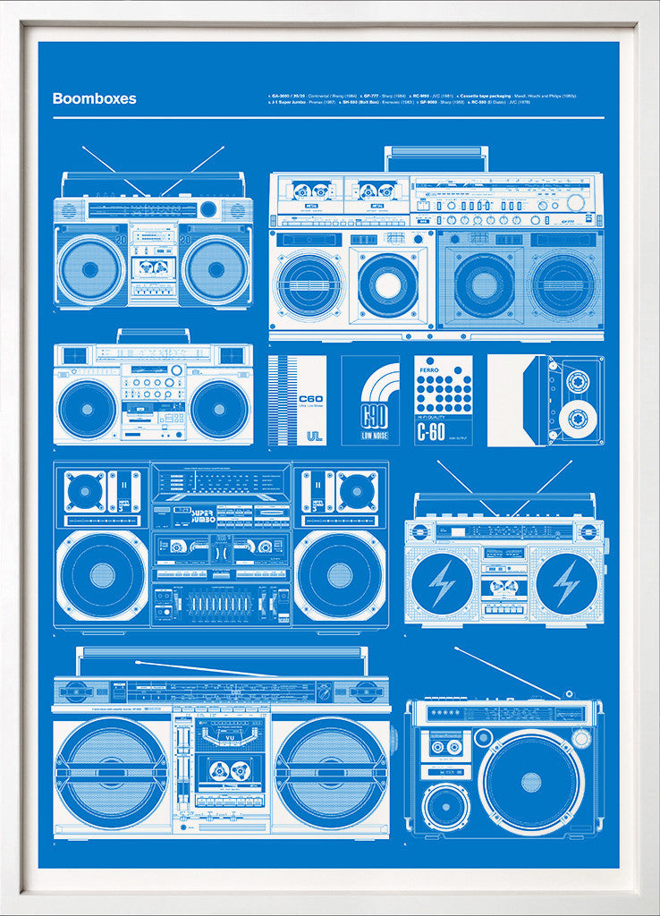 Boomboxes Blue