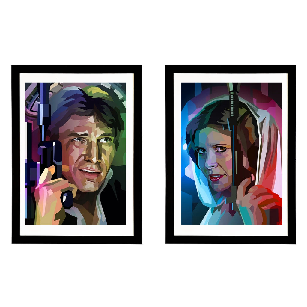 Star Draws (Leia & Han) Framed Set