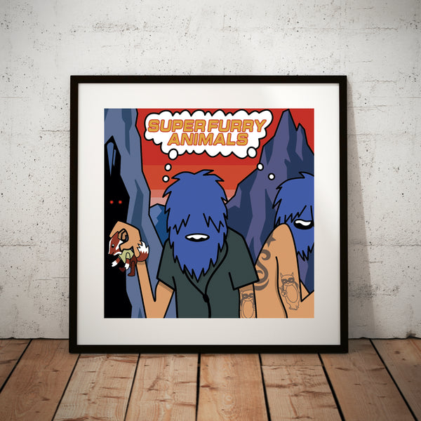The International Language of Screaming 2020 Art Print Framed