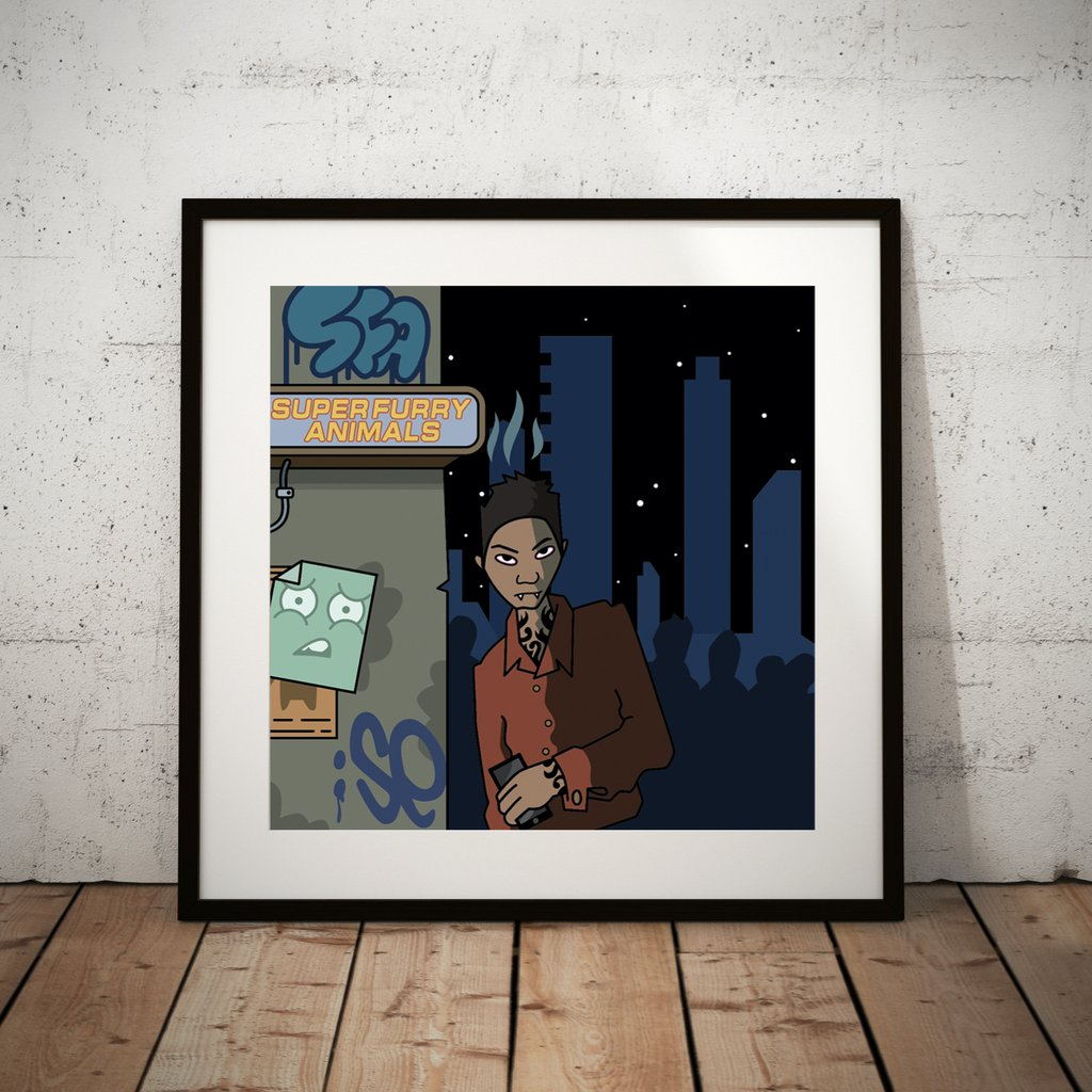 Demons 2020 Art Print Framed