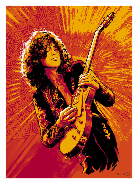 Jimmy Page Print & Book Bundle