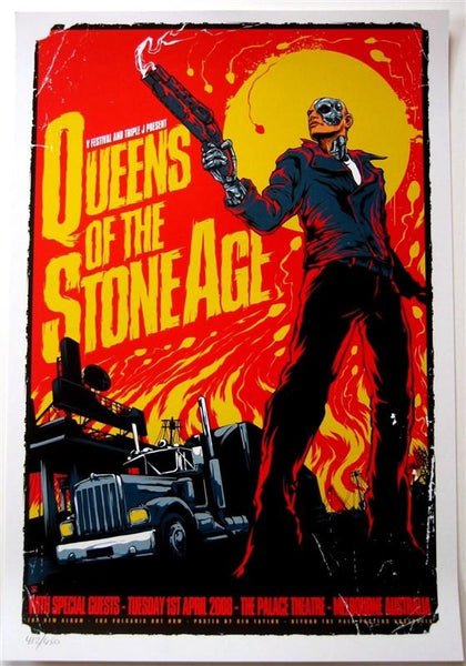QUEENS OF THE STONE AGE (MELBOURNE 2008) & JOSH HOMME PRINT BUNDLE