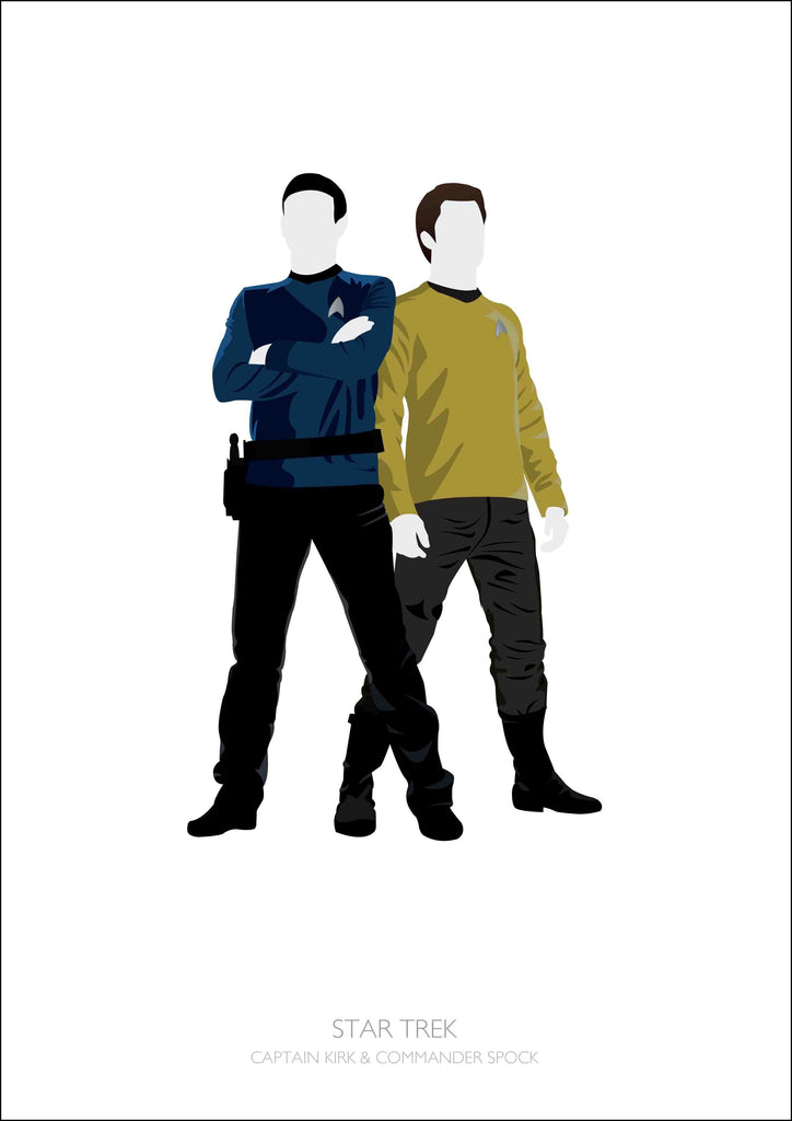 Star Trek (Captain Kirk & Commander Spock)