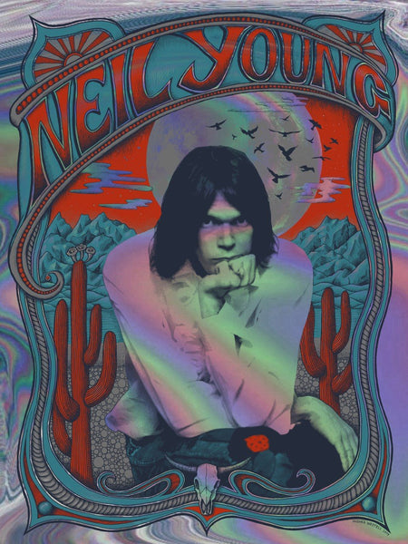 Neil Young (Holographic Rainbow Foil Variant) #01/20