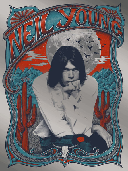 Neil Young (Variant On Silver Foil) #01/30