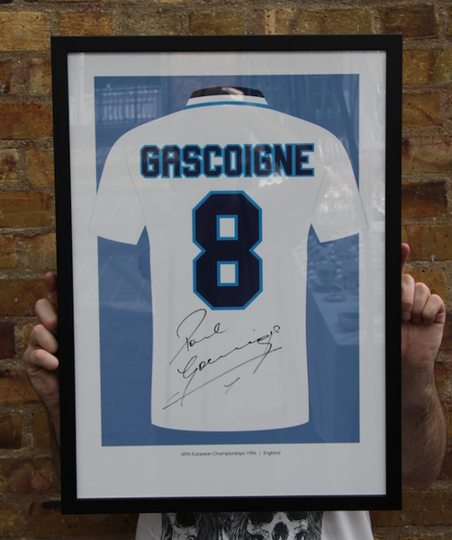 UEFA Euro 96 - Signed Paul 'Gazza' Gascoigne Art Print