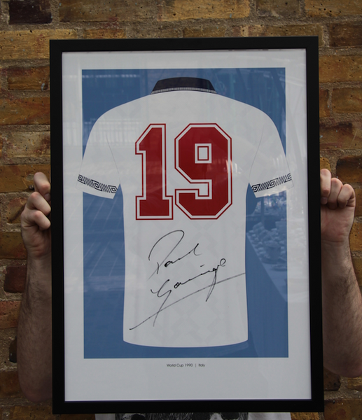 Italia 90 - Signed Paul 'Gazza' Gascoigne Art Print