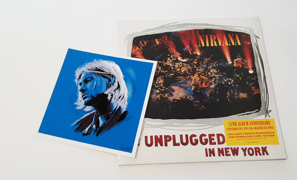Nirvana - MTV Unplugged in New York w/ Kurt Cobain mini print