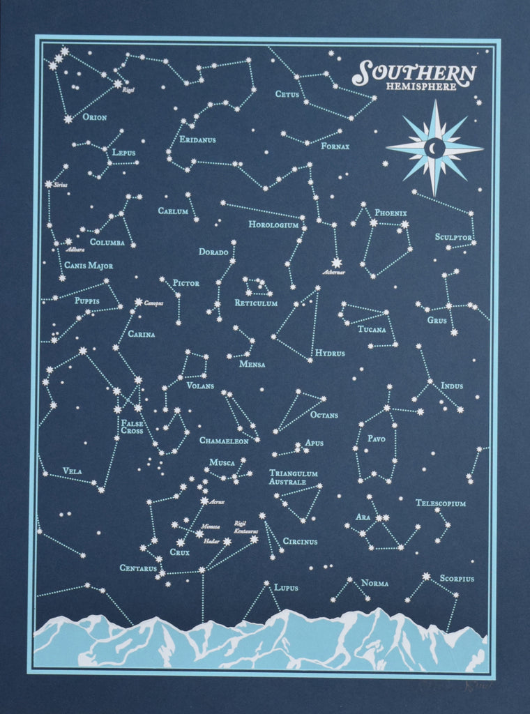 Star Chart Southern Hemisphere  The Flood Gallery