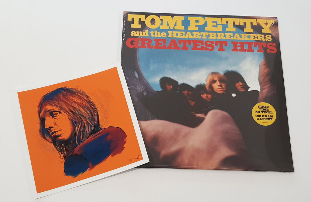 Tom Petty and the Heartbreakers - Greatest Hits w/ Tom Petty mini print