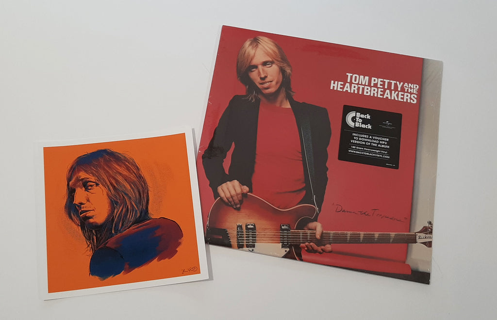 Tom Petty and the Heartbreakers - Damn the Torpedoes w/ Tom Petty mini print