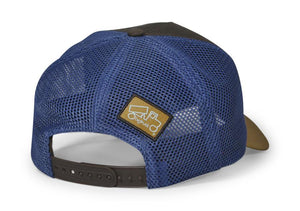 Pioneer Coffee Tan Blue Mesh Leather Patch