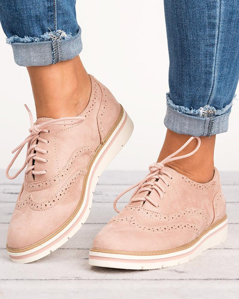 Chaussures Oxford à lacets unies