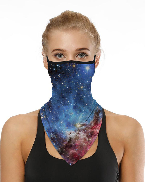 Sparkle Sky Print Respirant Ear Loop Face Cover Windproof Motocycling Dust Outdoors