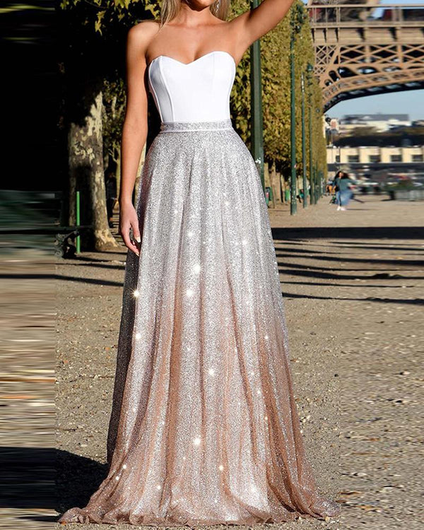 Tube maxi robe à paillettes