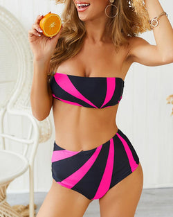 Ensemble de bikini tube d'insertion de colorblock