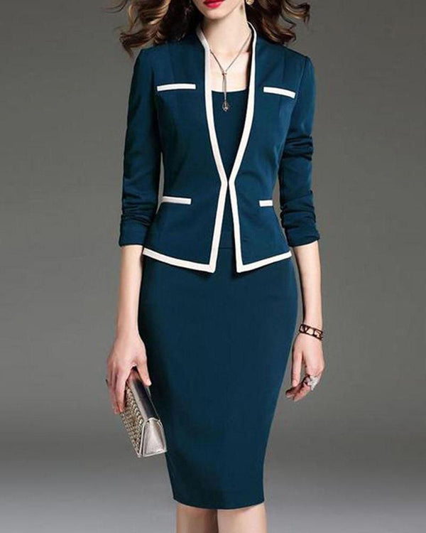 Ensemble d'affaires robe et blazer