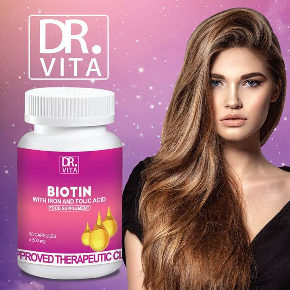 Dr. Vita Biotin  For Women | Best Biotin For Hair (30 Capsules)