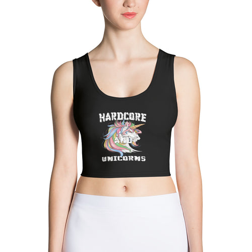 Sublimation Cut & Sew Crop Top - Hardcore and Unicorns