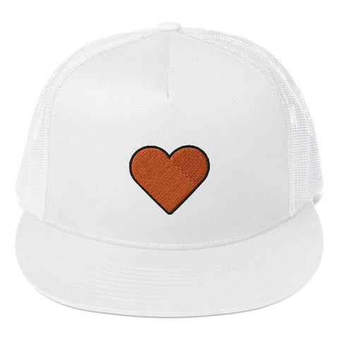COSMO | Orange Heart Trucker Hat