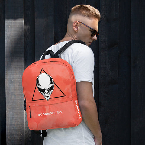 COSMO | Cosmo Backpack Red #COSMOCREW - Ravekläder | Rave, Festival & Clubwear clothing