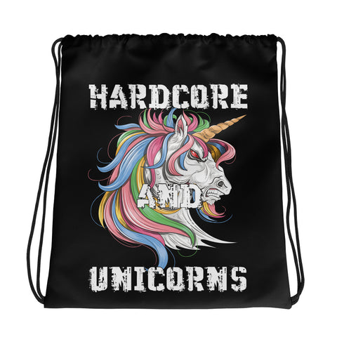 Drawstring bag - Hardcore and Unicorns - Ravekläder | Rave, Festival & Clubwear clothing