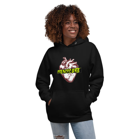 RAVE | Frenchcore Heart Hoodie w. Pockets