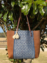 Load image into Gallery viewer, Signature Indigo Barn Tote- Large VI