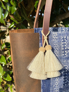 Signature Indigo Barn Tote- Small V