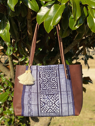 Signature Indigo Barn Tote- Small IV