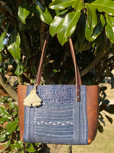 Signature Indigo Barn Tote- Small III