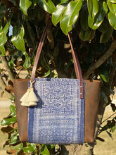 Load image into Gallery viewer, Signature Indigo Barn Tote- Small V