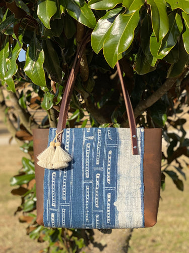 Signature Indigo Barn Tote- Small VII