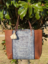 Load image into Gallery viewer, Signature Indigo Barn Tote- Large II