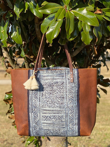 Signature Indigo Barn Tote- Large II