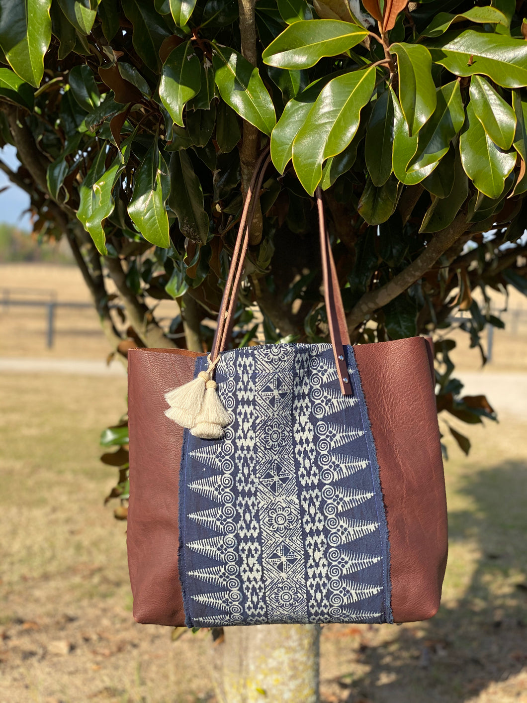 Signature Indigo Barn Tote- Large I