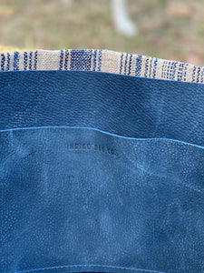 Signature Indigo Barn Tote- Large Blue