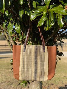 Signature Indigo Barn Tote- Large Handwoven