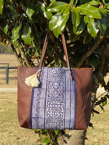Signature Indigo Barn Tote- Large IV
