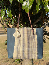 Load image into Gallery viewer, Signature Indigo Barn Tote- Large Blue
