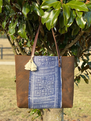 Signature Indigo Barn Tote- Large V