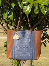 Load image into Gallery viewer, Signature Indigo Barn Tote- Large III