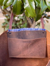 Load image into Gallery viewer, Signature Indigo Barn Tote- Large V