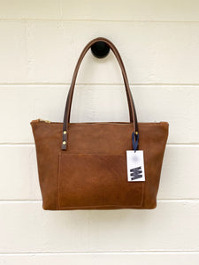 Small Tumbleweed Barn Tote with Outside Pocket and Zipper