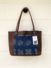 Load image into Gallery viewer, Small Indigo + Worn Saddle Barn Tote
