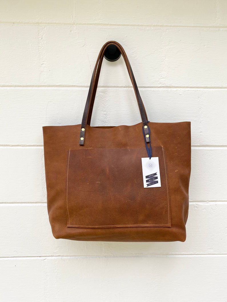Large Tumbleweed Barn Tote with Outside Pocket