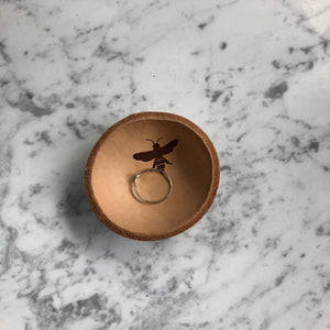 Leather + Bee Ring Bowl